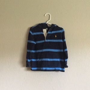 LIKE NEW 🐎 Ralph Lauren Rugby Polo Hoodie Blues